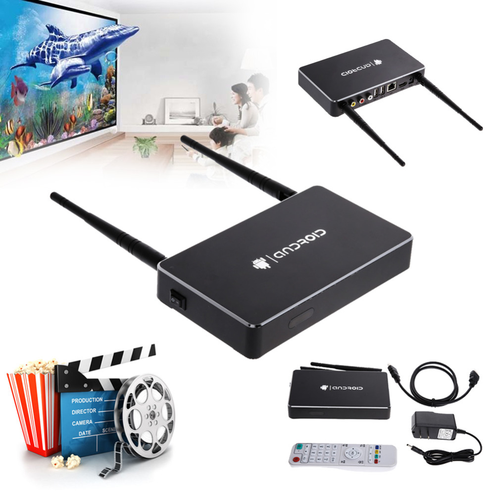 New Mini 1G/8G Intelligent Network Player Device 4K Decoding HD Android TV Box + Media Center Remote Control(China (Mainland))