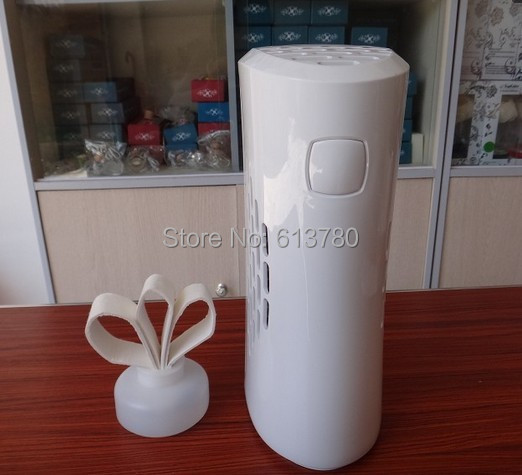 OEM supplier automatic fan aroma dispenser bathroom toilet perfume sprayer aerosol with 3 paper blades air scent marketing(China (Mainland))