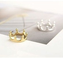 G025  Wholesale Christmas Gifts  Crown Finger Ring Gold Plated Cute Bow Ring(China (Mainland))