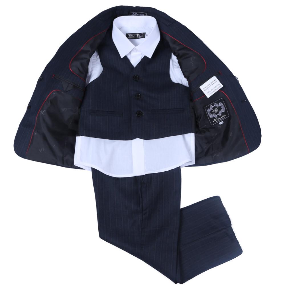 Скидки на Проворные Блейзеры Куртки Для мальчиков Свадьба Синий с белым завитки Дети Пиджаки Мальчиков Официальные Костюмы