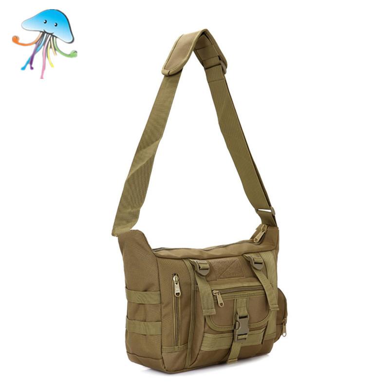 Man Tactical Gear Military Rucksack Men's Camouflage Shoulder School Bags Messenger Bag Leisure Waterproof Nylon Trunk Bag(China (Mainland))