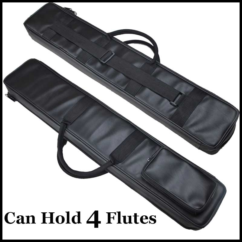Chinese Flute Dizi &amp; Xiao Case Black Imitation Leather Bag Traditional Musical Instrument Flauta Pouch Cover Can Hold 4 Flutes<br><br>Aliexpress