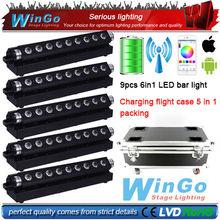 RGBWA+UV LED Battery Powered Wireless DMX led wash light / RGBWA UV battery powered wireless dmx led wall wash light 5XLOT(China (Mainland))