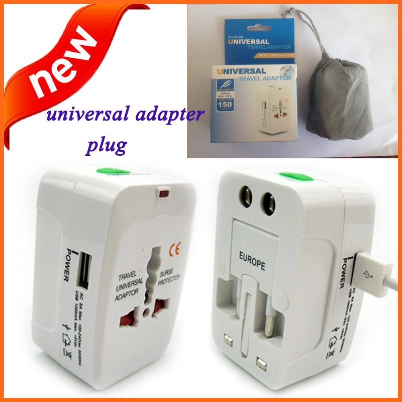 Free shipping universal adapter plug voltage converter 220v to 110v power transformer universal travel adapter with usb port(China (Mainland))