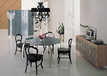 Newest Wholesale Europe mdern style dining room sets furniture table and chairs with dining side table