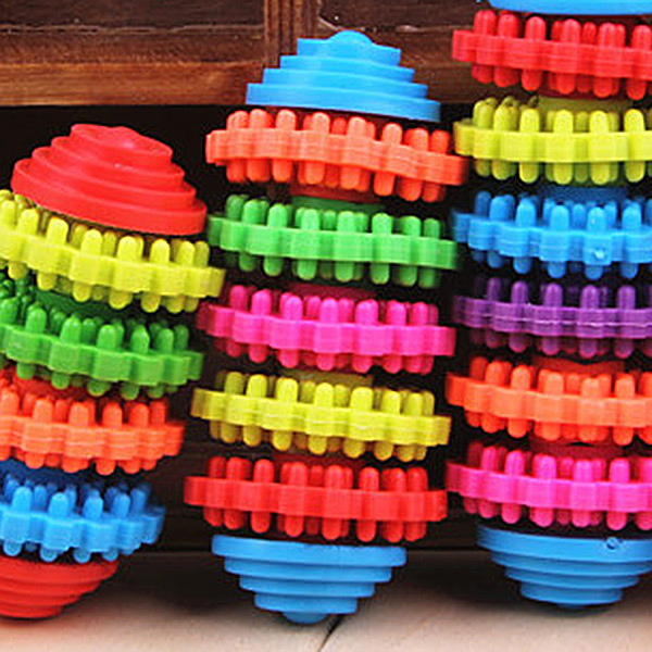 Durable Colorful 5 Ring Healthy Gums Play Toys Gear Dental Care Dog/Cat Chew Toy Teethers Puppy Pet Products(China (Mainland))