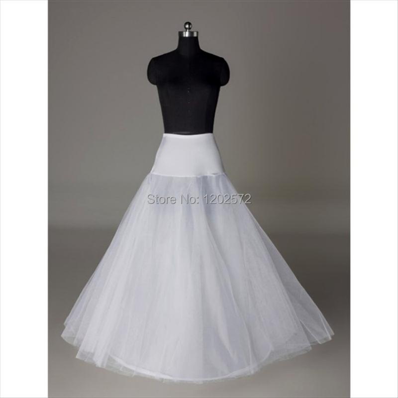 2015 Hot Sale 1 Hoop A Line Bone Petticoats For Wedding Dress Wedding Skirt Accessories Slip
