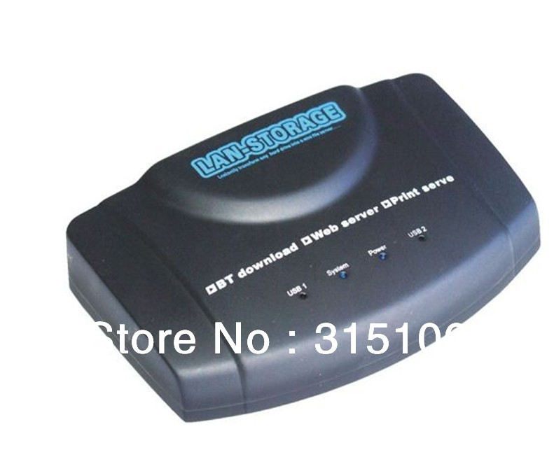 Free Shipping USB Network Storage Nas FTP Samba Print Server BT DLNA DDNS Download Client(China (Mainland))