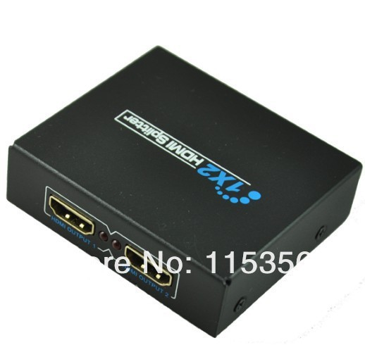 New 1 in x 2 out HDMI Distribution Amplifier Amp Distributor Splitter 3D HD 1080p free shipping