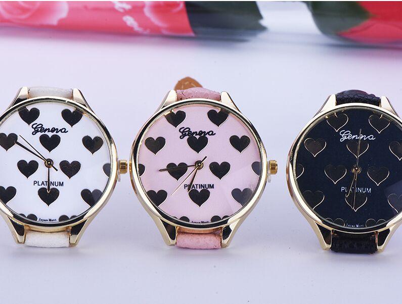 Hot selling leather geneva love flower watch luxury brand solid analog rhinestone watch women<br><br>Aliexpress