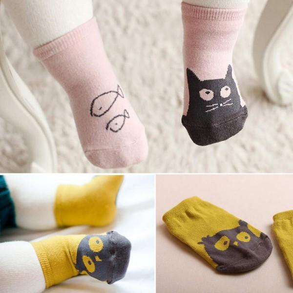 Новый милый малыш мягкие носки мультфильм сова рисунок носки детей носки