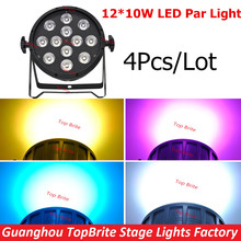 Buy Free New 4Pcs/Lot 12x10W 4in1 RGBW Led Par Party Star Show Stage Lights DMX512 DJ Disco Light Sound Equipments for $255.00 in AliExpress store