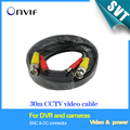 TEATE BNC cable 30M Power video Plug and Play Cable for CCTV camera DVR video system