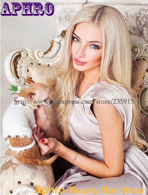Long Platinum Blonde Wig Human Hair Human Hair Platinum Blonde