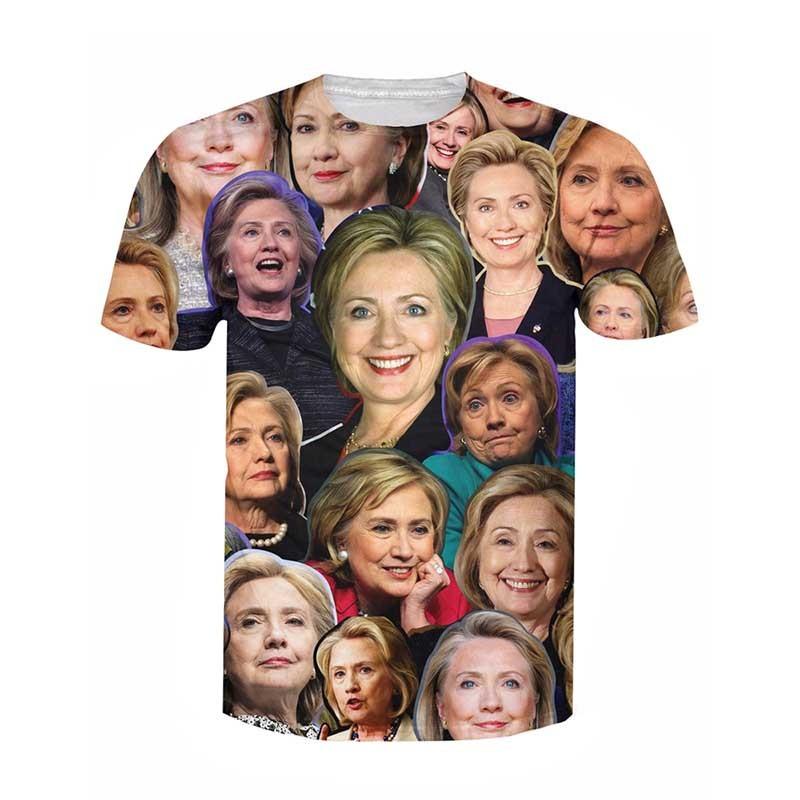 Hillary Clinton Paparazzi T-Shirt Women Men 3d Hillary's time t shirt Sport Tops Outfits Tees Summer Style Casual tshirts  HTB1w232JVXXXXXFXVXXq6xXFXXXy