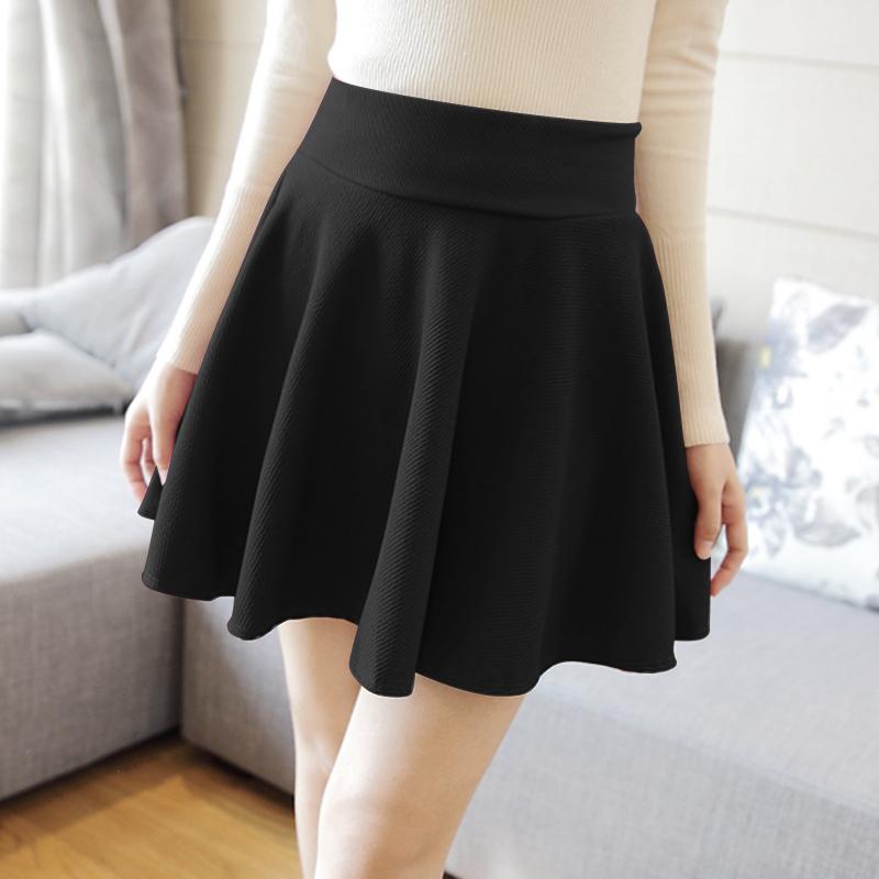 Autumn and winter women bust skirt high waist short dress fanshion for most pleated skirt(China (Mainland))