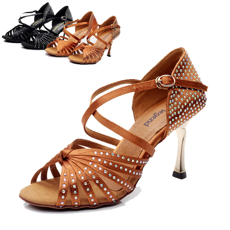 Latin Dance Shoes Women High Heels Salsa Ballroom Woman Jazz Dancing zapatos de baile latino DS075 - URA.Co.,Ltd. store