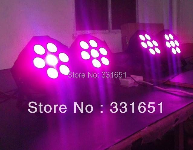 8pcs/Lot Red Green Blue Color Light Uplighting LED SlimPar Tri 7 9W DMX 3/7 Channels(China (Mainland))