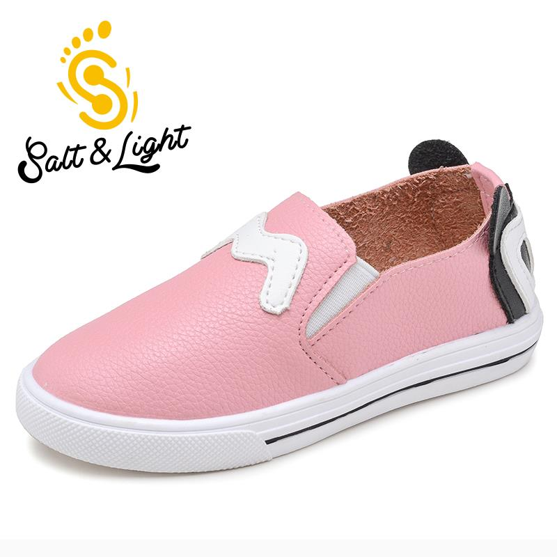 2016 autumn children casual single shoes wild teenage student flat heels shoes leather fashion sneakers for boys girls(China (Mainland))