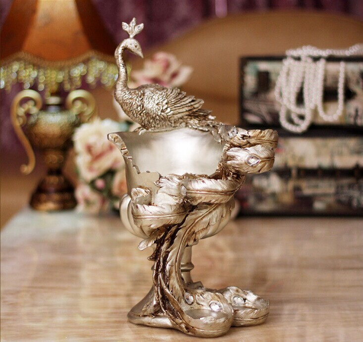 vintage silver plated peacock candelabra wedding tealight candle holders centerpiece Christmas decorations house moving gift(China (Mainland))