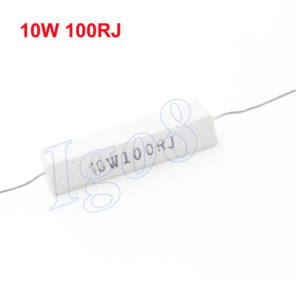 The Sales of Watt Power 100 Ohm 10W Cement Resistors 10pcs(China (Mainland))