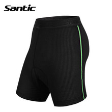 Santic Men 3D Padded Coolmax Padded Cycling Briefs Mens Knickers Underwear Protective Padded Gel Underwear S-3XLWC06001