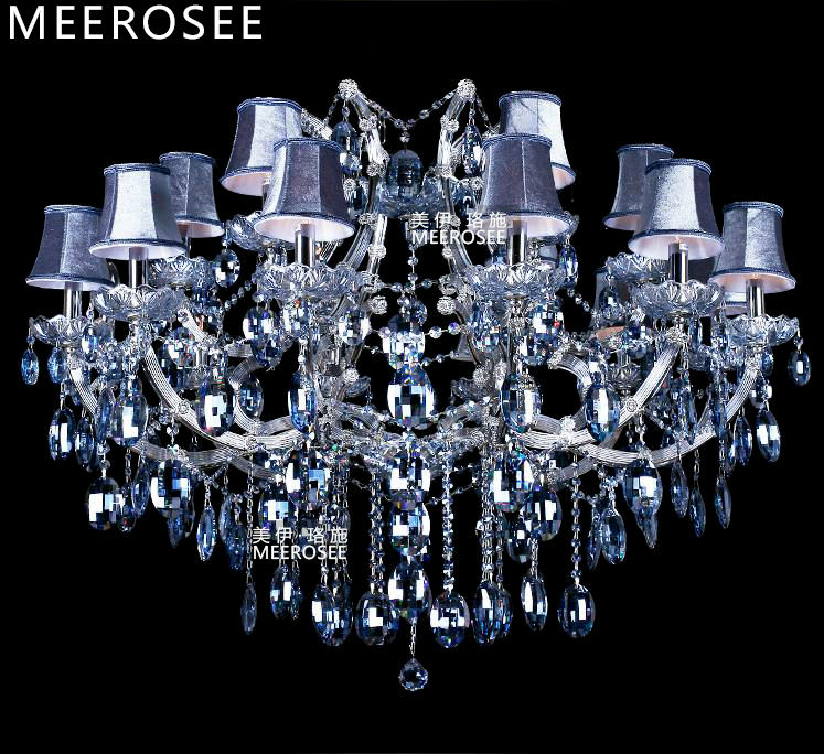 Blue Color Maria Theresa Crystal Chandelier Lamp/Lighting Fixture Large cristal Lusters for Hotel, Project 18 lights shades<br><br>Aliexpress
