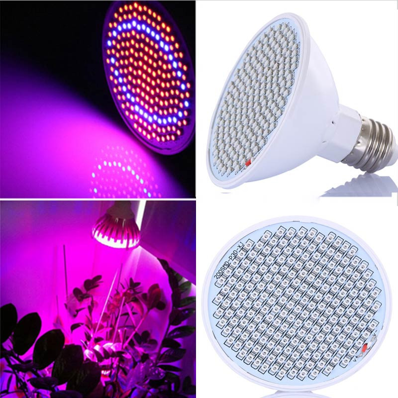 20W 166 Red 34 Blue LED Grow Light Bulb E27 Plant Lamp Garden Greenhouse Hydroponics Plant Seedling Growing Light AC85-260V(China (Mainland))