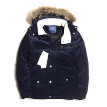 Mens Winter Parka Fur Collar 90% White Duck 10% Feather Male Warm Corduroy Jackets Coats M-2XL - AceCoool Trend Store store