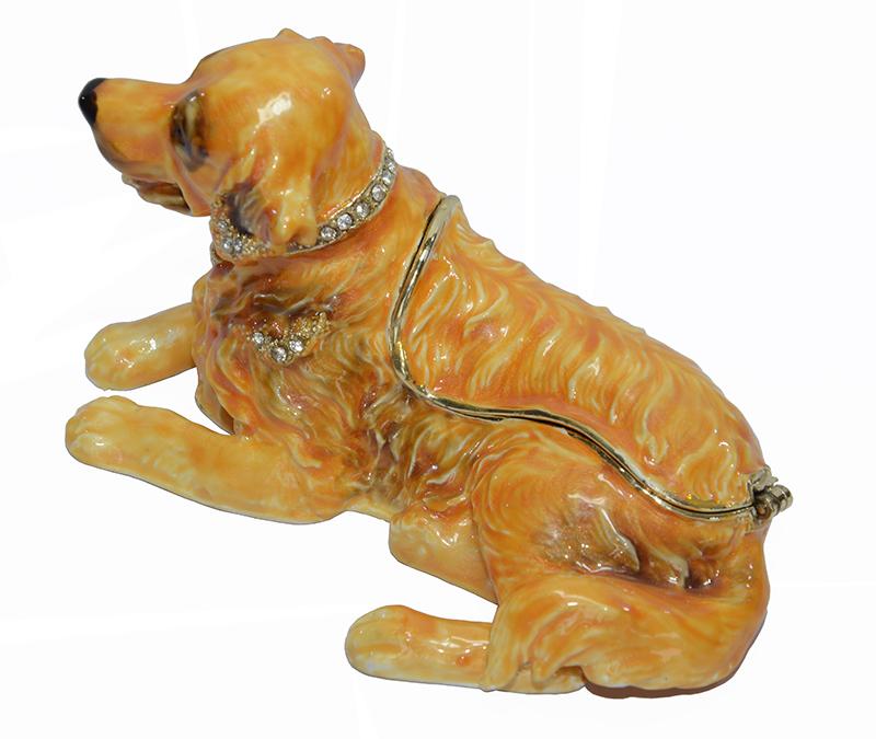 Golden Retriever dog animal shaped trinket box dog keepsake box souvenirs home decoration Russian faberge box Mother days gifts<br><br>Aliexpress