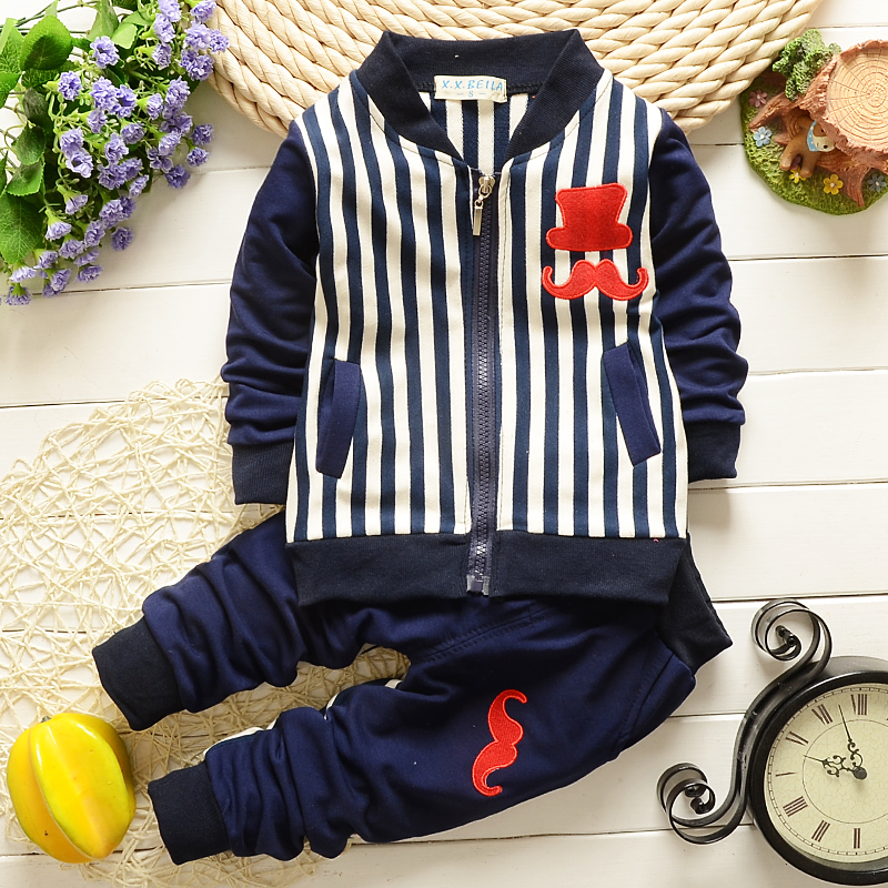 NEW Spring Autumn baby boys girls clothing set kids long sleeve hoodies Sport suit set children T shirt+pants 2 pcs clothes set(China (Mainland))