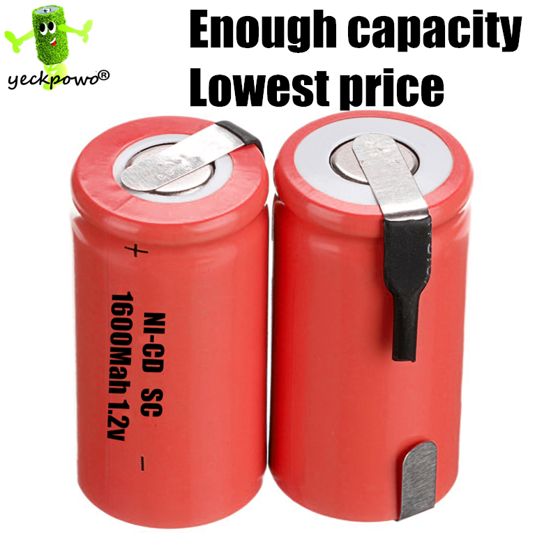 20 pcs SC battery Electric tools element ni-cd battery 1.2v rechargeable SC power bank 1600mah accumulator batteria(China (Mainland))