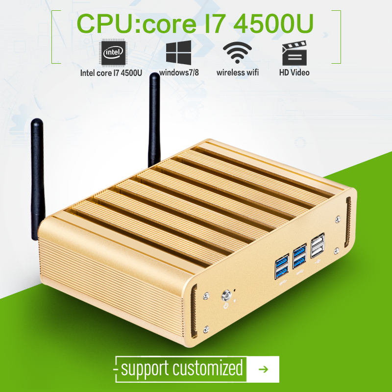 Ultra-small thin client for X31-i7 4500u dual-core celeron 1.7ghz with 8G RAM 128G SSD wifi aluminum alloy fanless mini pc(China (Mainland))