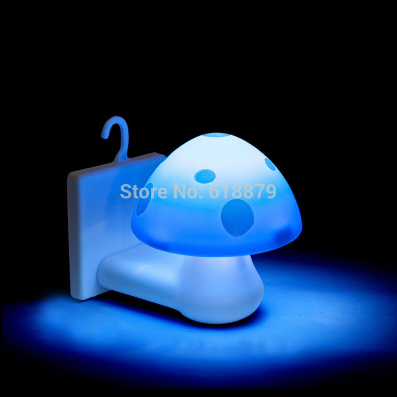 Solar Power Led Wall Lamp Mini Mushroom Shape Night Light