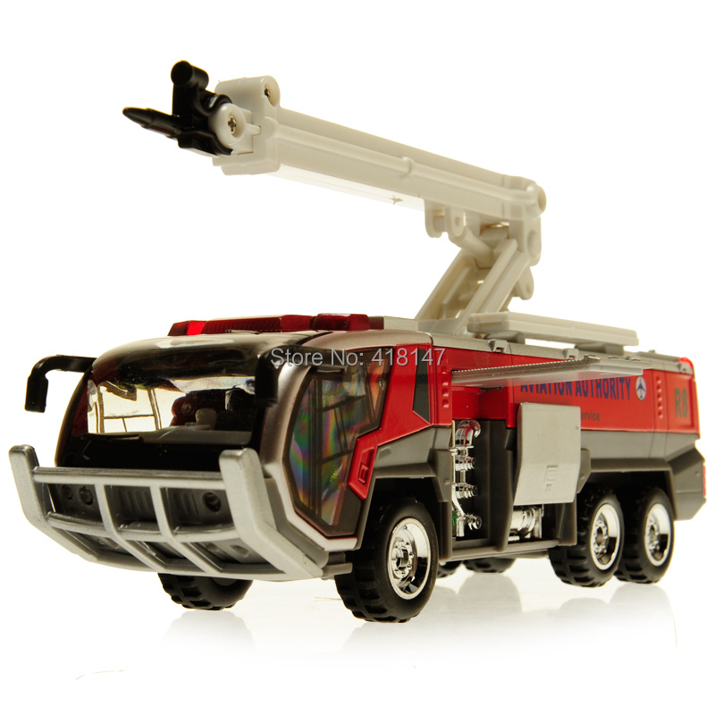 Airport fire car toy fire truck alloy WARRIOR car model acoustooptical toys(China (Mainland))