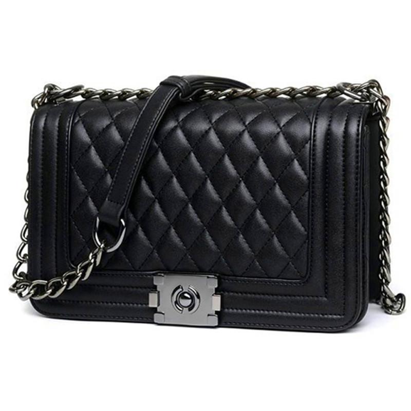 Brand Fashion Woman Crossbody Bag Promotional Ladies Totes luxury PU Leather Handbag Chain Shoulder Bag Plaid Women Bag(China (Mainland))