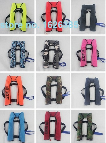 Manual hand inflatable life jacket fishing buoy vest diving boat vessel yacht CE 150N buoyancy bath Scrubber, Sponges(China (Mainland))