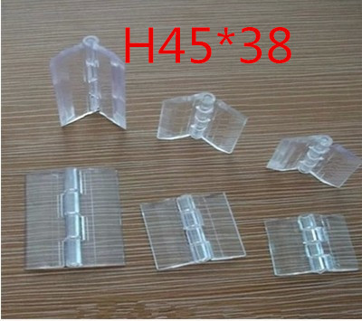 20pcs/lot 45x38mm Acrylic Hinge , perspex Transparent Hinge , Plexiglass Hinge , organic glass hinge ,furniture accessory(China (Mainland))