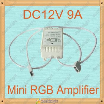 Freeshipping!DC12V 9A 3 Channel Mini RGB LED Amplifier Controller for RGB LED Strip Light