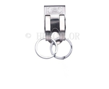 Security Belt Key Ring Clip On Quick Release Keychain Key Holder Stainless Steel(China (Mainland))