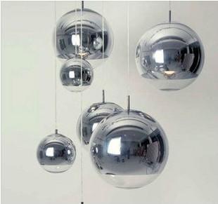 Plated ball pendant light silver glass ball pendant light restaurant lamp living room lamps bar lamp stair lamp(China (Mainland))