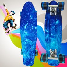 High Quality 100 kg Load Retro Skateboard Starry Sky Pattern Board Durable Light Environmental Outdoor Sport Skate Board 1484064(China (Mainland))