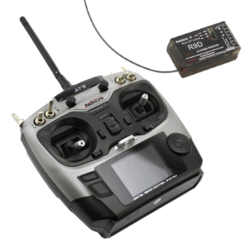 AT9 2.4G 9ch System Radiolink AT9 RC Radio Transmitter and R9D Receiver TX RX of Drone RC Remote Control Helicopter(China (Mainland))