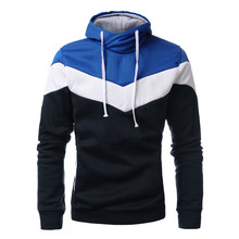 New Arrival 2015 Autumn Mens Casual Slim Fit Hooded Hoodies Sweatshirt Sportswear Male Patchwork Fleece Jacket 6 Colors L-3XL(China (Mainland))