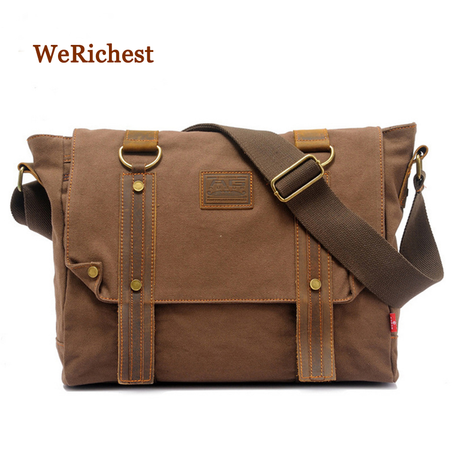 2016 Hot Selling Vintage Style Men Messenger Bags Cheap Canvas Crossbody Bag High Quality Shoulder Messenger Bag Free Shipping(China (Mainland))