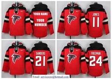 Matt Ryan,Julio Jones,Deion Sanders,brett favre,Devonta Freeman customizable Sweater hoodies any name ,camouflage(China (Mainland))