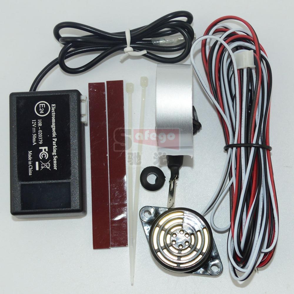 1 set ELECTROMAGNETIC PARKING SENSOR,parking sensor without drilling hole; wireless parking sensor(China (Mainland))