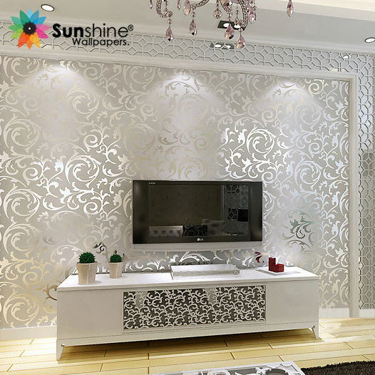 Sunshine 3d papel de parede Europe style pattern for home decor Non-woven of wall paper TV/sofa background luxury wallpaper roll(China (Mainland))