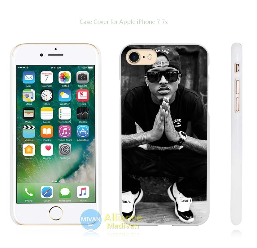 August Alsina Hard White Case Cover for Apple iPhone 4 4s 5 5s SE 5C 6 6s 7 7s Plus(China (Mainland))