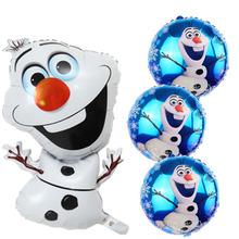 72 * 43 cm Olaf globos globo de helio de aluminio fiesta de cumpleaños de globos muñeco de nieve globos decoración de la boda baby shower regalo juguete clásico